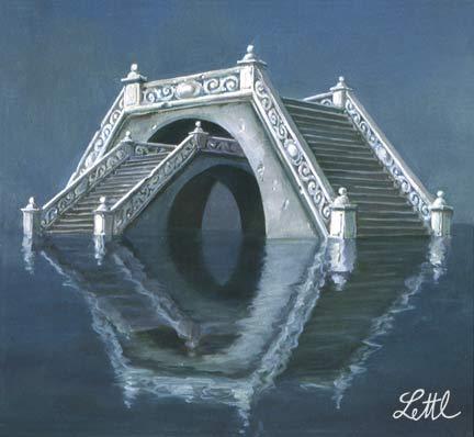 Wolfgang Lettl - Die Mutterbrücke (1982), 30x33 cm
