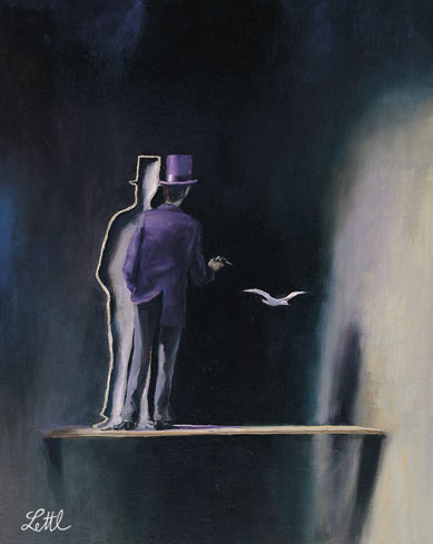 Wolfgang Lettl - Zylindermann (The Man with the Top-Hat) 1993, 44x36,5 cm