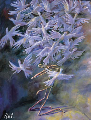 Wolfgang Lettl - unten (At the Bottom) 1995, 69x53 cm